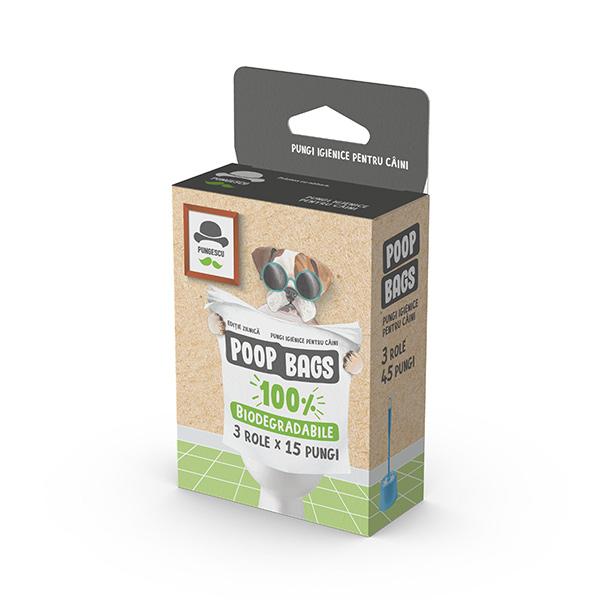 Pungi biodegradabile pentru catei